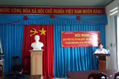 Trường THPT Phan Đăng Lưu tổ chức học Nghị quyết Hội nghị Trung ương 6.