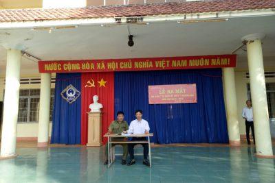 """trường THPT Phan Đăng Lưu tổ chức lễ ra mắt Mô hình """"Tự quản về An Ninh Trật Tự """""""