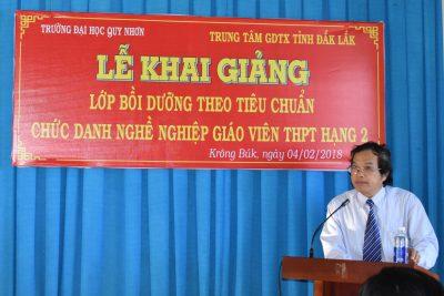 khai giảng lớp bồi dưỡng chuẩn chức danh nghề nghiệp giáo viên THPT hạng II tại trường THPT Phan Đăng Lưu.